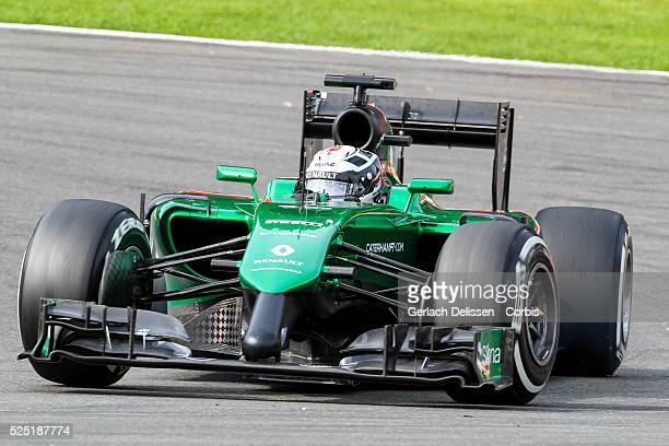 Formula One World Championship 2014, F1 Shell Belgian Grand Prix, Caterham F1 team driver Andr�� Lotterer in action at the Spa-Francorchamps Circuit,...