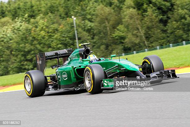 FIA Formula One World Championship 2014 F1 Shell Belgian Grand Prix Caterham F1 team driver Marcus Ericsson in action at the SpaFrancorchamps Circuit...