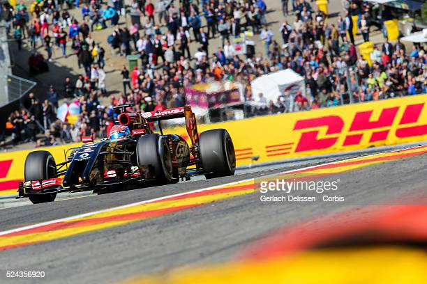 FIA Formula One World Championship 2014 F1 Shell Belgian Grand Prix Lotus F1 Team driver Romain Grosjean in action during the race at the...