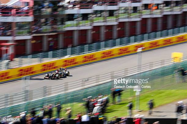 Formula One World Championship 2014, F1 Shell Belgian Grand Prix, Lotus F1 Team driver Romain Grosjean in action during the race at the...