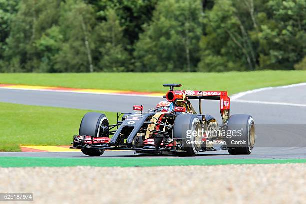 Formula One World Championship 2014, F1 Shell Belgian Grand Prix, Lotus F1 Team driver Romain Grosjean in action at the Spa-Francorchamps Circuit, on...