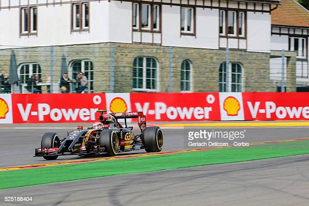 FIA Formula One World Championship 2014 F1 Shell Belgian Grand Prix Lotus F1 Team driver Pastor Maldonado in action at the SpaFrancorchamps Circuit...