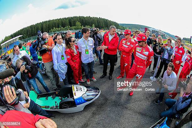 FIA Formula One World Championship 2014 F1 Shell Belgian Grand Prix promotion of the Shell EcoMarathon with Scuderia Ferrari drivers Fernando Alonso...