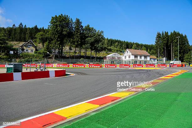 Formula One World Championship 2014, F1 Shell Belgian Grand Prix, Atmosphere impression on the La Source corner at the Spa-Francorchamps Circuit, on...