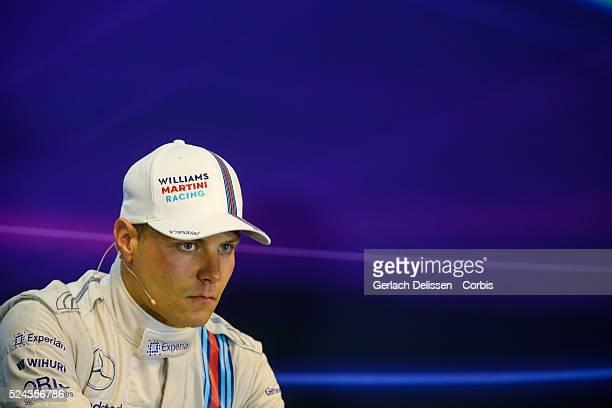 Formula One World Championship 2014, F1 Shell Belgian Grand Prix, Williams Martini Racing driver Valtteri Bottas in the post race press conference at...