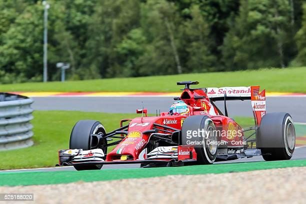 Formula One World Championship 2014, F1 Shell Belgian Grand Prix, Scuderia Ferrari driver Fernando Alonso in action at the Spa-Francorchamps Circuit,...