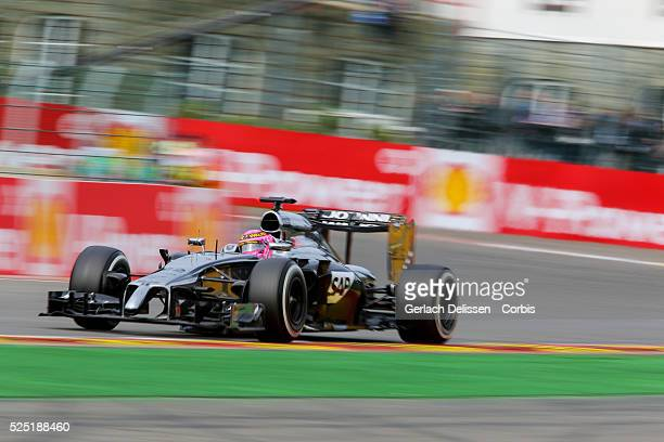 FIA Formula One World Championship 2014 F1 Shell Belgian Grand Prix McLaren Mercedes driver Jenson Button in action at the SpaFrancorchamps Circuit...