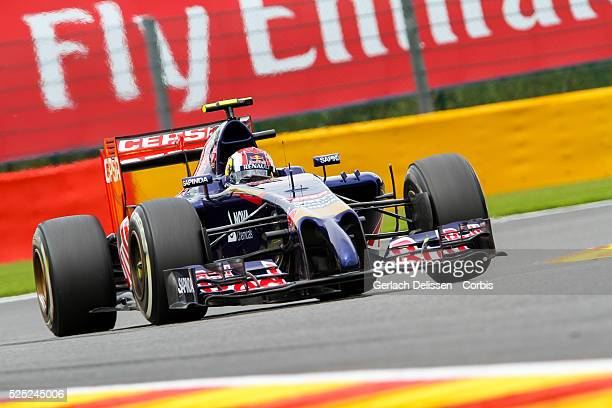Formula One World Championship 2014, F1 Shell Belgian Grand Prix, Scuderia Torro Rosso driver Daniil Kvyat in action at the Spa-Francorchamps...