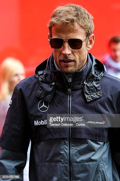 FIA Formula One World Championship 2014 F1 Shell Belgian Grand Prix McLaren Mercedes driver Jenson Button at the SpaFrancorchamps Circuit on Sunday...
