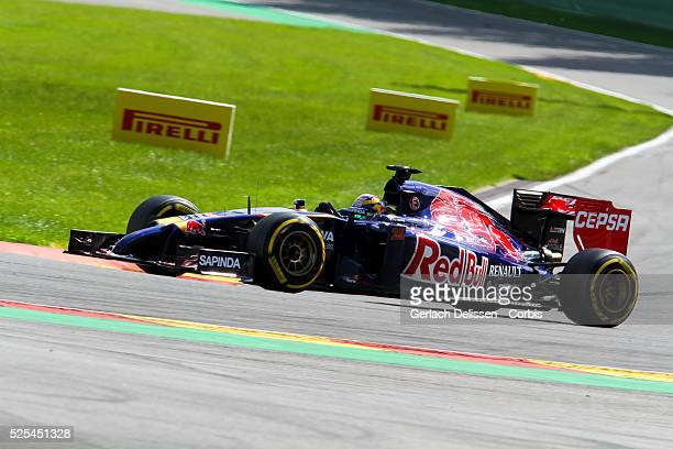 Formula One World Championship 2014, F1 Shell Belgian Grand Prix, Scuderia Torro Rosso driver Jean-Eric Vergne in action during the race at the...