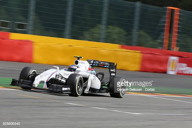 Formula One World Championship 2014, F1 Shell Belgian Grand Prix, Williams Martini Racing driver Valtteri Bottas in action during the race at the...
