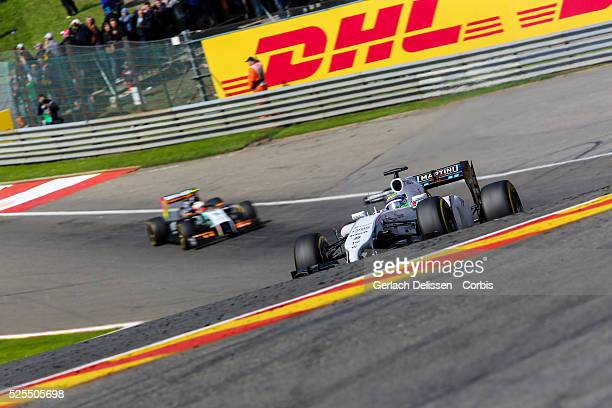 Formula One World Championship 2014, F1 Shell Belgian Grand Prix, Williams Martini Racing driver Felipe Massa in action during the race at the...