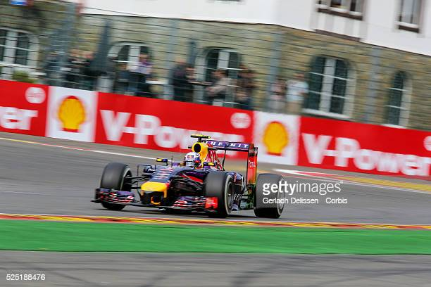 FIA Formula One World Championship 2014 F1 Shell Belgian Grand Prix Infiniti Red Bull Racing team driver Daniel Ricciardo in action at the...