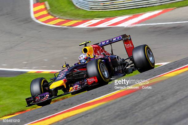 FIA Formula One World Championship 2014 F1 Shell Belgian Grand Prix Infiniti Red Bull Racing driver Daniel Ricciardo in action during the race at the...