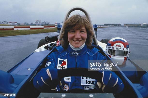 Formula Three racing driver Cathy Muller, UK, April 1985.