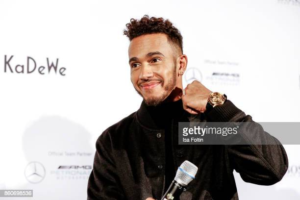 Formular 1 race driver Lewis Hamilton during the KaDeWe X Hugo Boss Evening with Lewis Hamilton on October 12 2017 in Berlin Germany