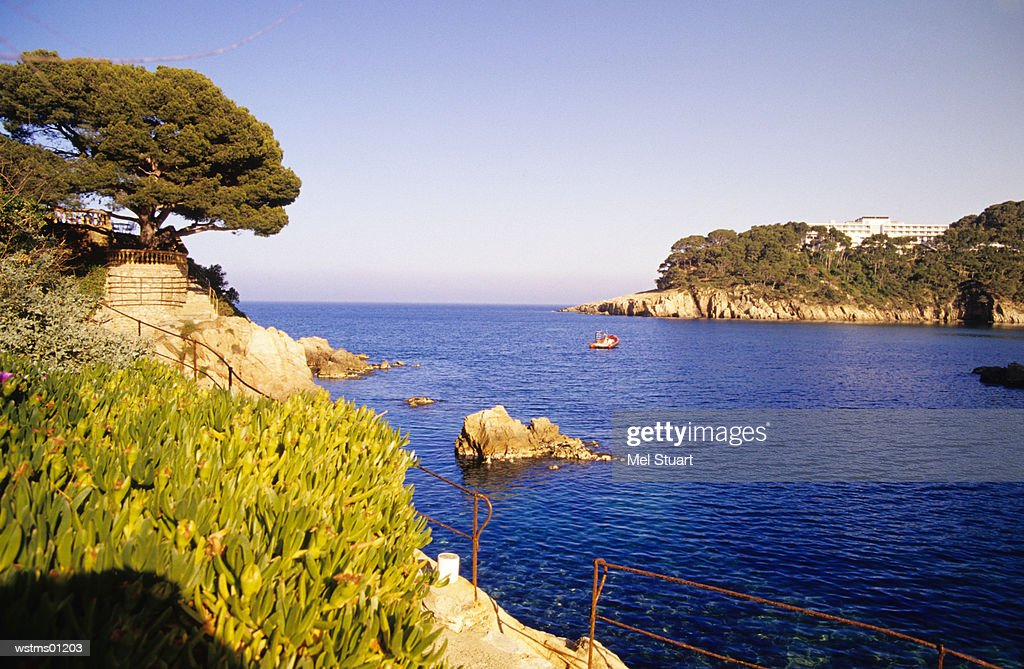 Fornells, Bay of Aiguablava, Costa Brava, Catalonia, Spain : Stock Photo