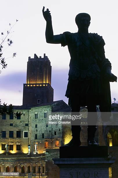 Foro Traiano with Traiano Statue, Rome, Italy