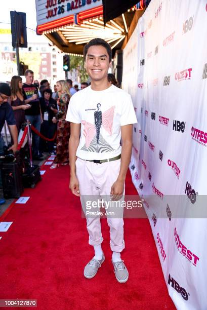 Forrest Goodluck attends 2018 Outfest Los Angeles LGBT Film Festival Closing Night Gala Of 'The Miseducation Of Cameron Post' Red Carpet at The...