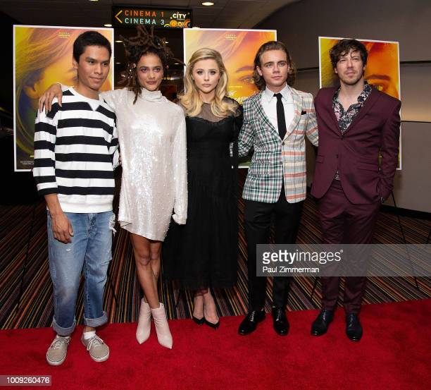 Forrest Goodluck Sasha Lane Chloe Grace Moretz Christopher Dylan White and John Gallagher Jr attend 'The Miseducation Of Cameron Post' New York...