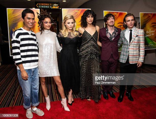 Forrest Goodluck Sasha Lane Chloe Grace Moretz director Desiree Akhavan John Gallagher Jr and Christopher Dylan White attend 'The Miseducation Of...
