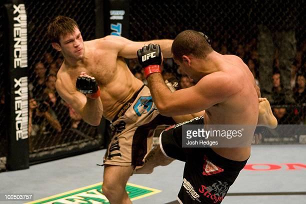 """Forrest Griffin def. Mauricio """"Shogun"""" Rua - 4:45 round 3 during the UFC 76 at Honda Center on September 22, 2007 in Anaheim, California."""