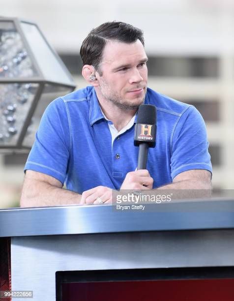 Forrest Griffin speaks at the roundtable panel during HISTORY's Live Event 'Evel Live' at Omnia Nightclub at Caesars Palace on July 8, 2018 in Las...