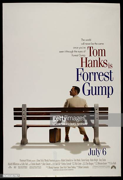 """Forrest Gump"" a 1994 American epic romantic comedy film starring Tom Hanks, Robin Wright, Gary Sinise and Sally Field."