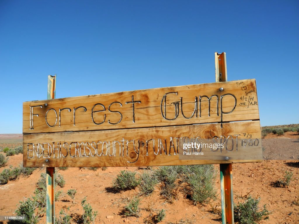 FORREST GUMP STOPPED HERE! : News Photo