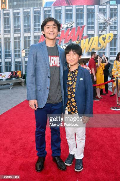 Forrest Wheeler and Ian Chen attend the Los Angeles Global Premiere for Marvel Studios' AntMan And The Wasp at the El Capitan Theatre on June 25 2018...