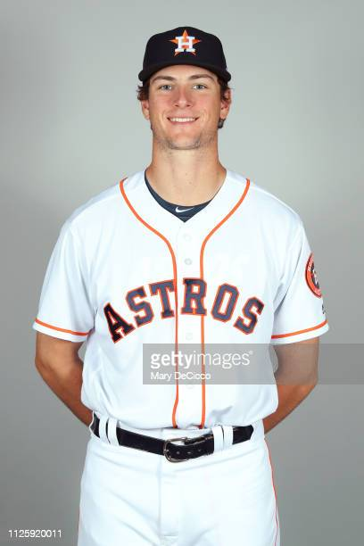 Forrest Whitley of the Houston Astros poses during Photo Day on Tuesday February 19 2019 at the FITTEAM Ballpark of the Palm Beaches in West Palm...