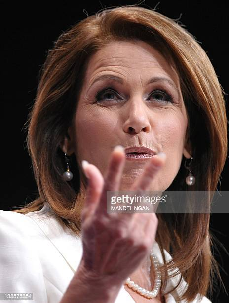 Forrmer Republican presidential candidate Rep Michele Bachmann RMN speaks during an address to the 39th Conservative Political Action Committee...