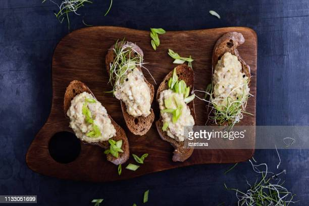 forshmak, snack, traditional jewish cuisine - pate stock photos and pictures