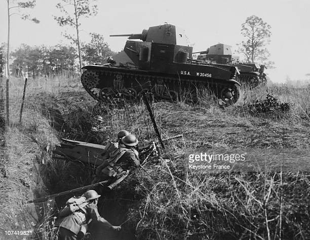 Fort Benning Demonstration Of The Tanks Job In War At Georgia In Usa