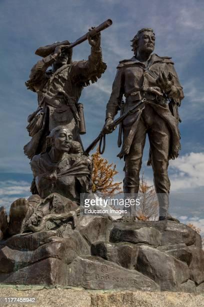 Fort Benton Montana USA Statue of Lewis Clark and Sacajawea by Bob Scriver 1975