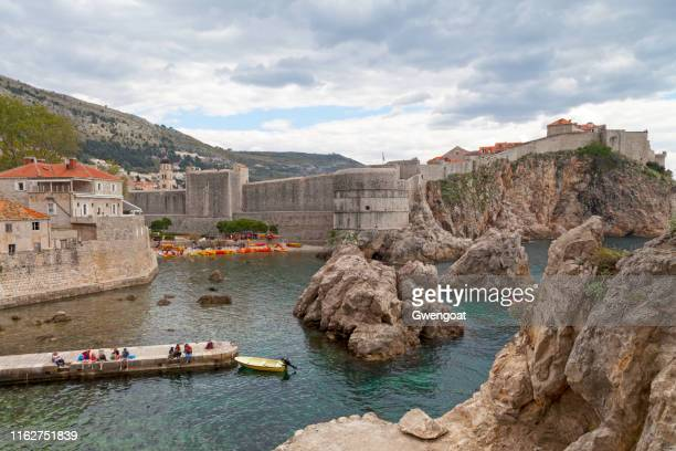 fort book in dubrovnik - gwengoat stock pictures, royalty-free photos & images