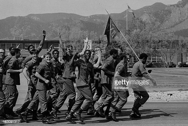MAY 11 1981 MAY 12 1981 Fort Carson Soldiers Run To Kick Off Armed Forces Week Soldiers smile and wave as they join more than 8300 others at Fort...
