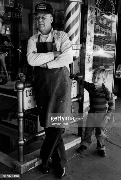 Fort Collins Colorado People Social Conditions Don Pierce Shoe repair shop owner Don Pierce and grandson Gabriel Else Credit Denver Post