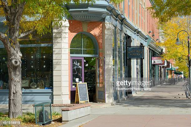fort collins in autumn - fort collins stock pictures, royalty-free photos & images