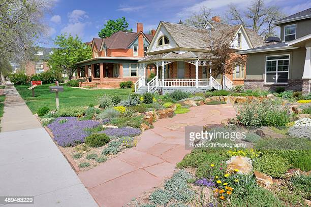 fort collins neighborhood - fort collins stock pictures, royalty-free photos & images