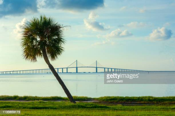 fort de soto park, sunshine skyway bridge, saint petersburg, florida - tampa stock pictures, royalty-free photos & images