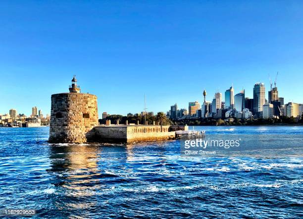 fort denison and the city of sydney - sydney stock pictures, royalty-free photos & images