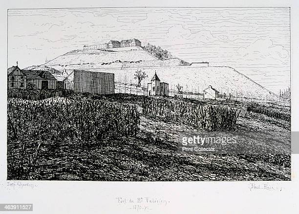 Fort du Mont Valerien, Siege of Paris, 1870-1871. After the disastrous defeat of the French at Sedan and the capture of Napoleon III, the Prussians...