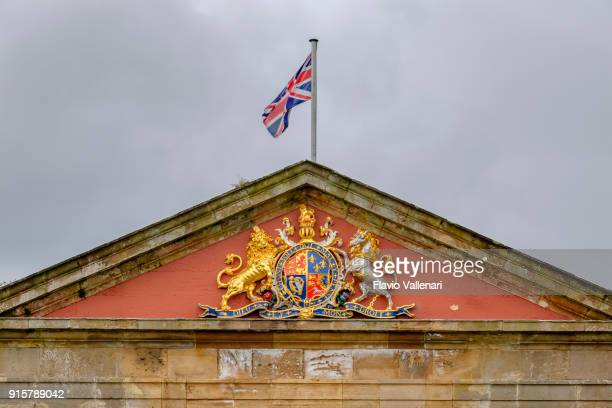 fort george, scotland - coat of arms stock pictures, royalty-free photos & images