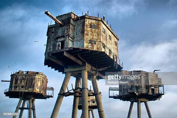CONTENT] fort in thames estuary designed by Guy Maunsell to Combat enemy bombing raids in the Second World War This is the Shiverings Sands Fort