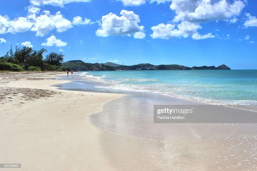 Fort James Beach Antigua Stock Photo