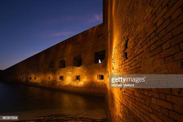 fort jefferson, abandoned by the army in 1874. - dry tortugas stock pictures, royalty-free photos & images