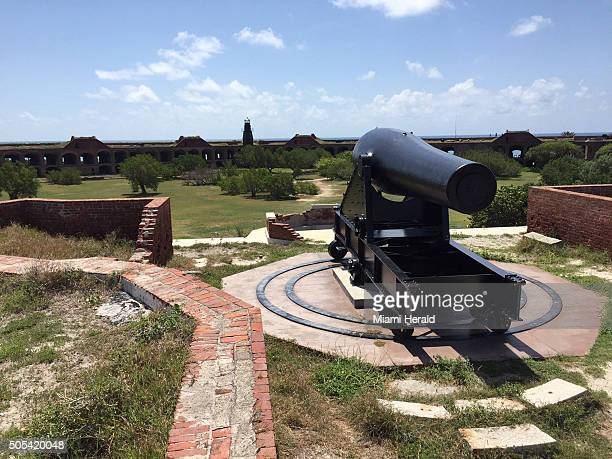 Fort Jefferson has six Rodman cannons Only 320 were ever produced The 25ton cannons could fire 450pound cannonballs more than three miles