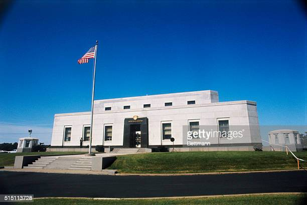 Exterior view of the United States Bullion Depository at Ft Knox Kentucky