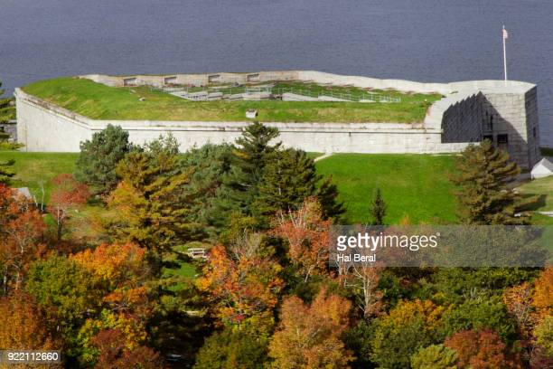 fort knox on the penobscot river - fort knox stock pictures, royalty-free photos & images